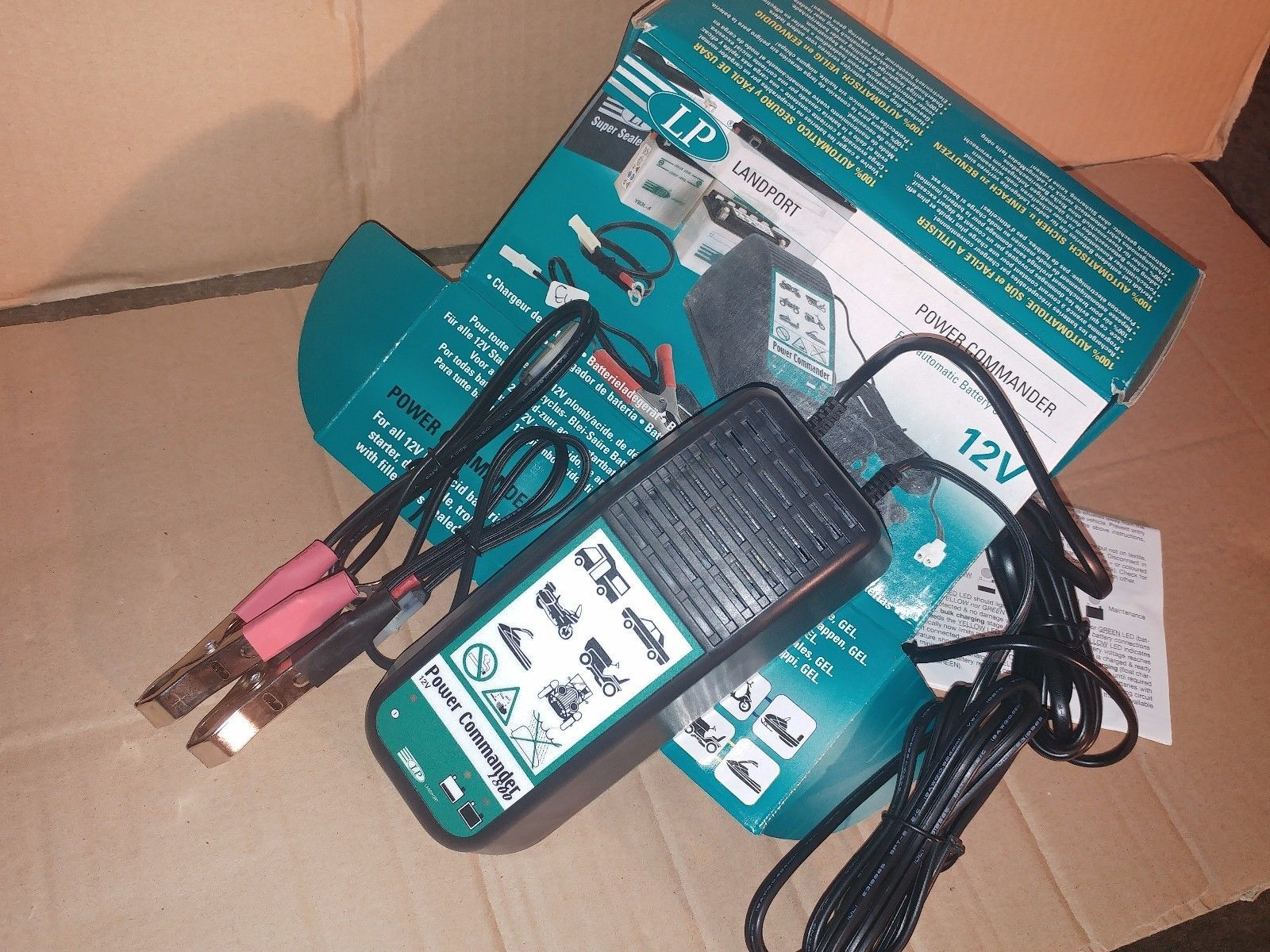 Landport Power Commander 12v 18a Automatic Battery Charger